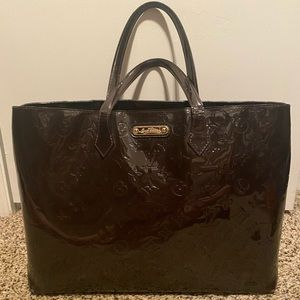 Brown Louis Vuitton Vernis Leather Bag